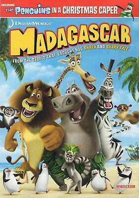 Madagascar DVD Ben Stiller Chris Rock David Schwimmer Jada Smith 2005 Widescreen