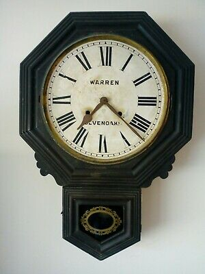 Antique Ansonia NY Chiming Wall Clock Warren Sevenoaks