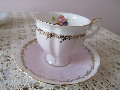 Vintage Crown Staffordshire English Bone China Cup and Saucer
