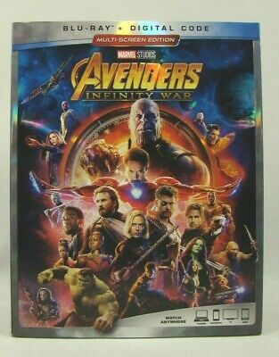 Avengers Infinity War (Blu-ray+Digital) W/ dust cover. New sealed !