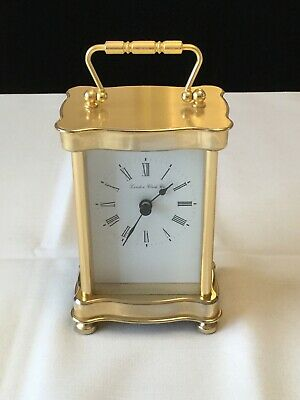 Lovely Gold Brass  Carriage Clock - London Clock Company