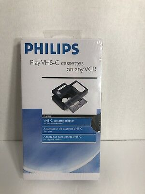 Philips USA PH61300 VHS-C Cassette Adapter Brand New and SEALED
