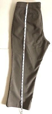 Banana Republic Dress Pants Womens Brown Stretch Ankle Cropped Size 14