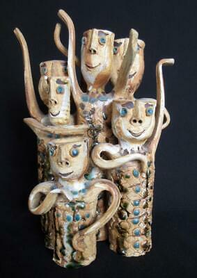 Hal Fromhold California Mid-Century Pottery Art Ceramic Figural People Sculpture