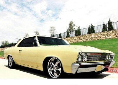 1967 Chevrolet Chevelle BUTTER NUT YELLOW WITH A Iron Headed SBC CRATE 383 CLASSIC CAR OLD SCHOOL ANTIQUE RESTOMOD MUSCLE CAR CHEVELLE CHARGER ROAD RUNNER