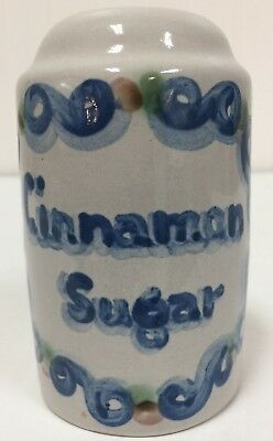 MA Hadley Cinnamon Sugar Shaker Ceramic Blue Grey gray pottery