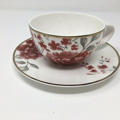 Roy Kirkham Bone China Cup And Saucer England Oriental Pattern