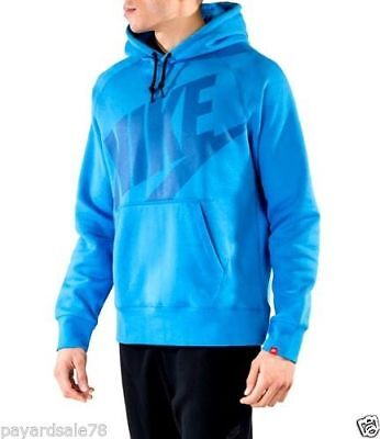 Men/'s Nike Therma Hoodie Pullover Top Royal Blue//White 867302-493 MSRP $55 Small