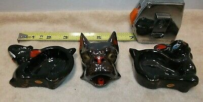 Vintage Antiques  Ashtrays Set of 3  Made In Japan