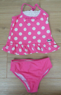 Juicy Couture baby girl swimsuit swim suit set 2 y 18-24 m BN pink dot swimming