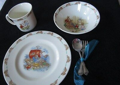 Royal Doulton Bunnykins Child's Set  Plate, Bowl and Cup