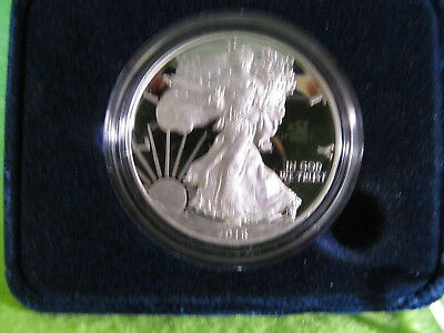 2016 W American Silver Eagle One Ounce Silver Proof Coin, Box And Coa