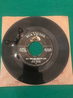 Elvis 45 RPM, 47-6870 All Shook Up, That's When Your Heartaches Begin