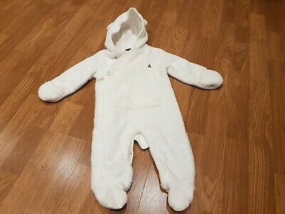 bb98e7cd1 GAP - BABY Boy or Baby Girl - White - Snowsuit & Mittens - Age 0-6 ...