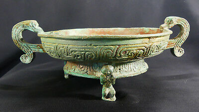 X-RARE Ancient Chinese Ritual Bronze Basin (Pan) W. Zhou Dynasty +Translation!