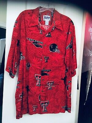 d7fef5bd Texas Tech Red Raiders Hawaiian Shirt 'masked Rider' Reyn Spooner Sz: Large