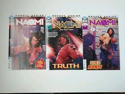 Naomi #1,#2 + #3 - First Print - Dc Comics - Cover A Set Bendis - Sold Out