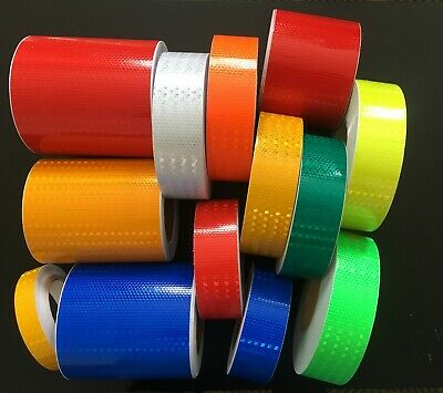 Reflective Tape High Intensity High Viz Self adhesive Vinyl Any Colour UK SELLER