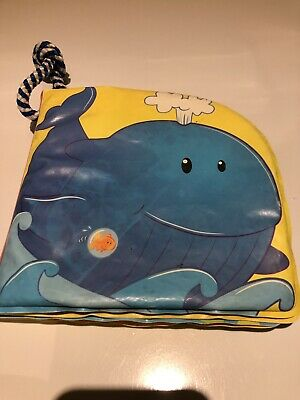 Bath book for toddler blue whale