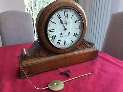 "Antique ""EDWARDS AND BROOKES MACCLESFIELD, wooden Wall Clock for Restoration"