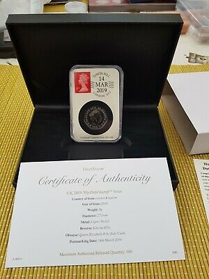 STEPHEN HAWKING 2019 Date Stamp 50p Pence Coin BUNC Cased with coa LTD ED