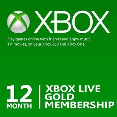 ⭐️ Instant ⭐️ 12 Month Xbox Live Gold Worldwide Membership Xbox One 360 ⭐️