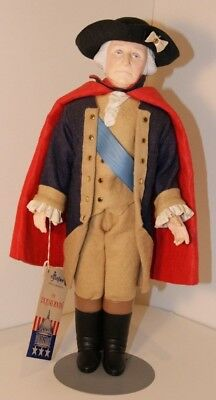 Effanbee The Presidents 1983 George Washington Doll with Hat and Stand Tagged