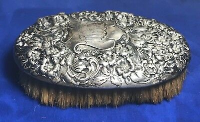 Gorham Sterling Silver Floral Repousse Clothing Brush