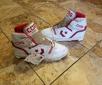 ea75d920124c26 Vintage Converse Cons ERX-200 Basketball Shoes DS Deadstock NOS Red Size 17