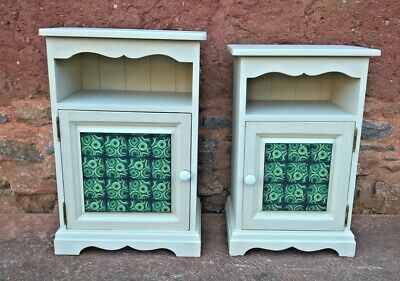 Two Upcycled Bedside Cabinets / Matched Pair Of Bedside Cupboards (Delivery 👍)