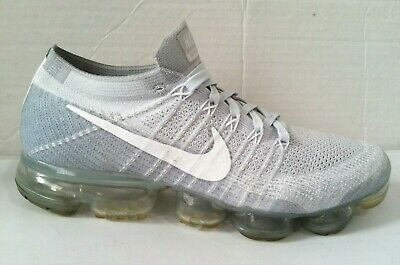 Nike Air Vapormax Flyknit Mens Sz 10 Pure Platinum White Wolf Grey 849558 004
