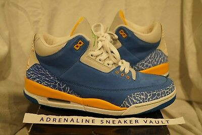 84ad99304d3e Air Jordan Retro 3 Do The Right Thing DTRT III LS Brisk Blue Pro Gold RDNT