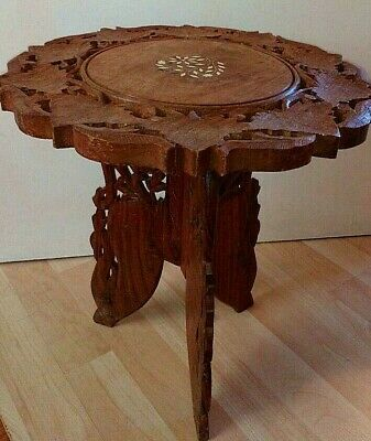 Hand Carved Indian Wooden Tea/Coffee/Side Table