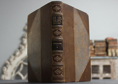 Rare Antique Old Book Men Who Have Made The New German Empire 1875 Scarce