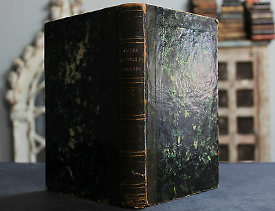 Rare Antique French Book Course On Belles-Lettres - Beautiful Fine Writing 1840