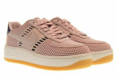 NIKE WOMEN'S AIR Force 1 AF1 UPSTEP SI SZ 5.5 PARTICLE ROSE