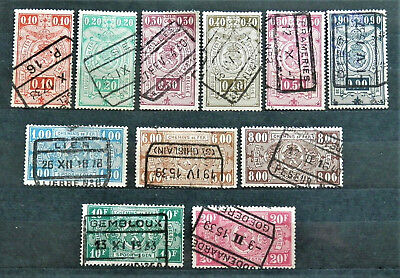 Belgium Lot Of 11 Old Pre Ww2 Stamps , Nice , Rare