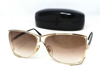 9a62a20aad028 Christian Dior 2688 sunglasses vintage aviator black gold brown large