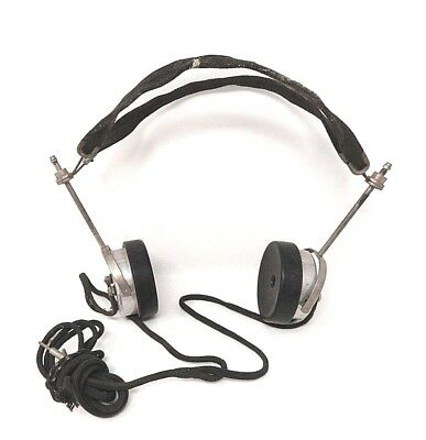 Atq / Vtg - Camco Cannon-Ball - Radio Headphones - Metal and Bakelite