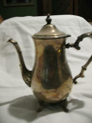 Vintage Silverplated Coffee Tea Pot Silver Plate Teapot 4 Footed WM Rogers 800