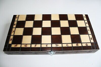3in1 FOLDING WOODEN CHESS SET Board Game Chess and Draughts
