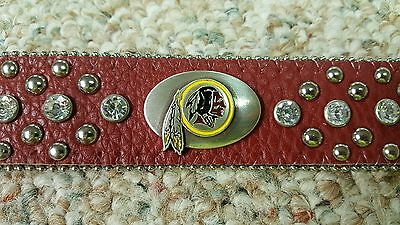 Washington Redskins Leather Belt Rhinestone Fancy Style Glitz Bling S M L XL XXL