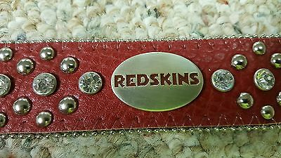 Washington REDSKINS Leather Belt Rhinestone Fancy NFL Glitz Bling S M L XL XXL