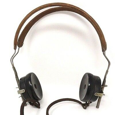 Atq / Vtg - Kellogg S. & S. CO - Radio Headphones - Metal and Bakelite