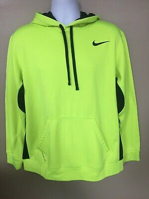 promo code 23b10 11195 NIKE THERMA-FIT MEN'S Neon And Black Pullover Hoodie Sweatshirt Size L