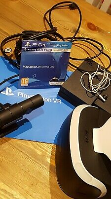 Sony PlayStation VR Headset Glasses PS4 Virtual Reality PSVR & Camera & Games