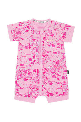 Bonds Baby Short Sleeve Zip Wondersuit Romper sizes 0000 00 0 1 Pink Puffer