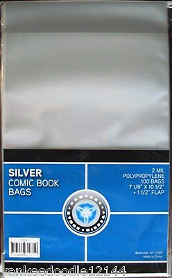 6000 New CSP SILVER AGE Comic Book Archival Poly Bags- 7 1/8 X 10 1/2