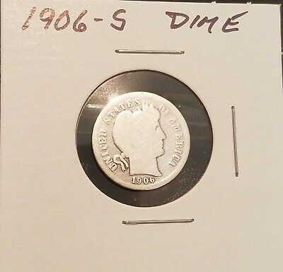 1906-S Barber Dime In Good Condition!