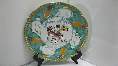 Piccadilly Conca Dei Marini Amalfi Serving Platter/Plate- Man/Donkey Italy